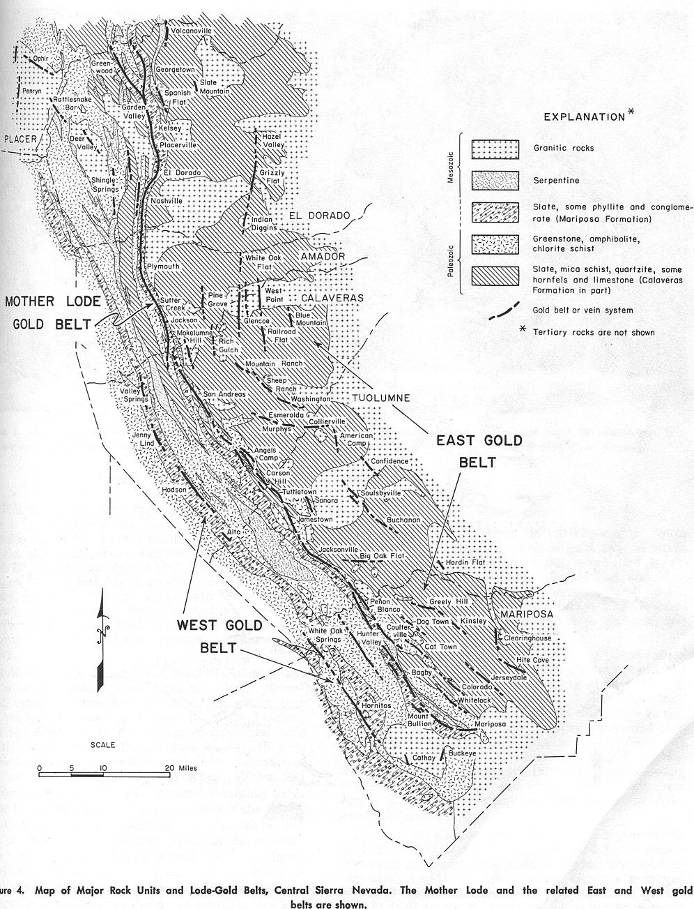 Maps of the Mother Lode area within California:   Gold ... Interstate Map Californai Over The Sierras on