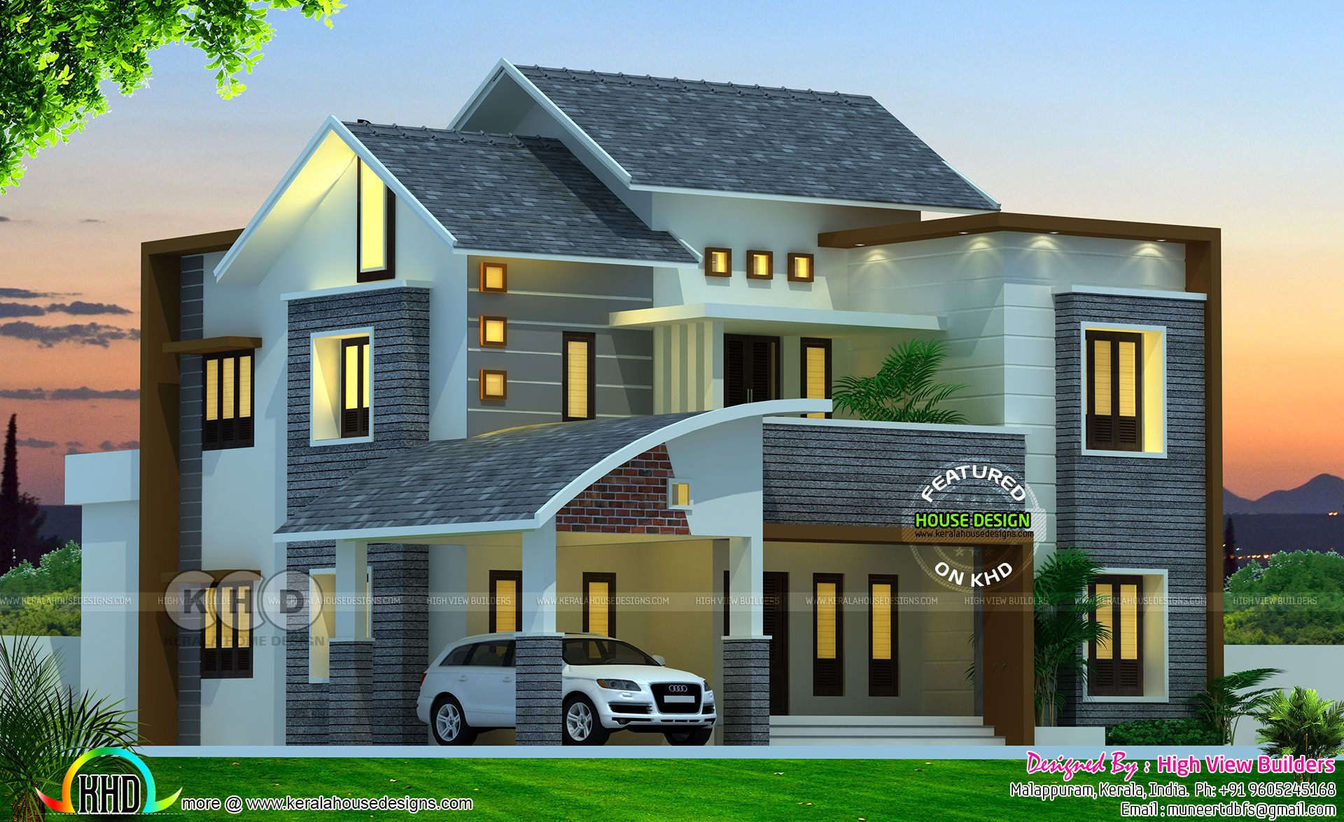 Modern Kerala Home Design By High View Builders In 2018 Home