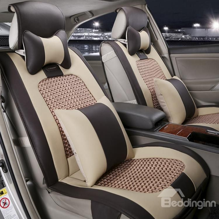 New Arrival High Quality Classic Brown Seat Covers Leather Car Seat Covers Brown Seat Covers Car Seats