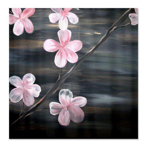 Pretty Cherry Blossom Shower Curtain   With Black Background.  #cherrybshowercurtainscglam