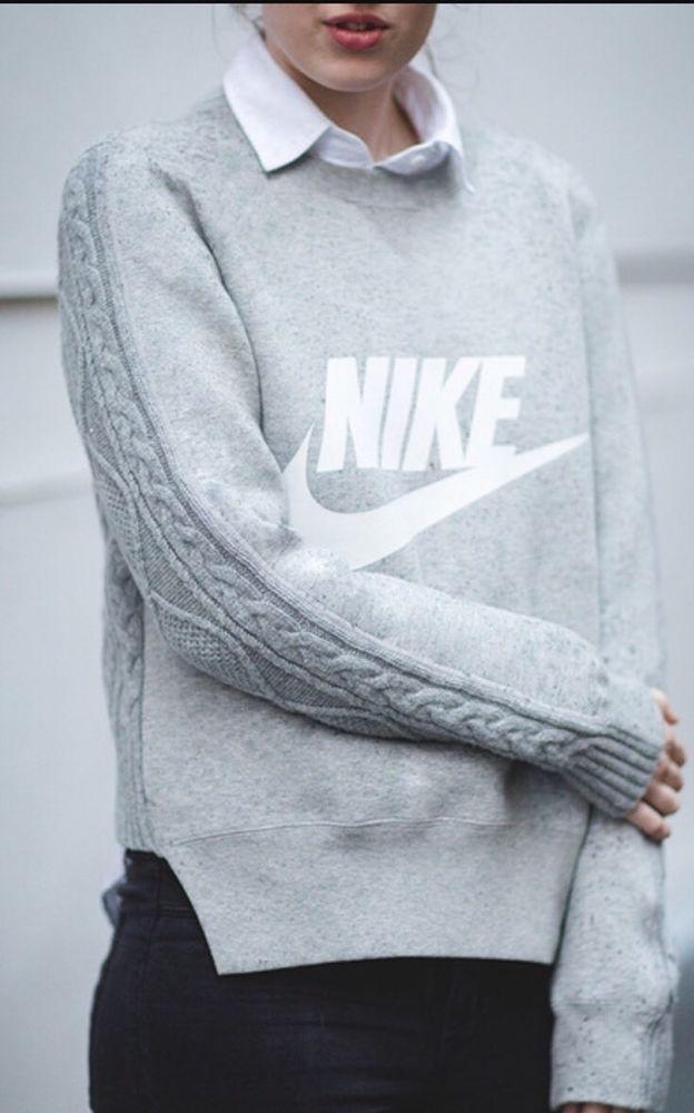 nike sacai sweatshirt womens sweater sold ebay fashion back