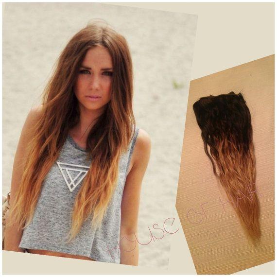 Rustic brunette ombre brunette human hair extensions dip dye rustic brunette ombre brunette human hair extensions dip dye extension clip hair wefts pmusecretfo Images