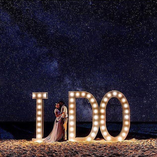 Só desejo a vocês que no dia do seu casamento o céu também comemore estrelado assim! Foto de Elkin Cardona  #prontaparaosim #