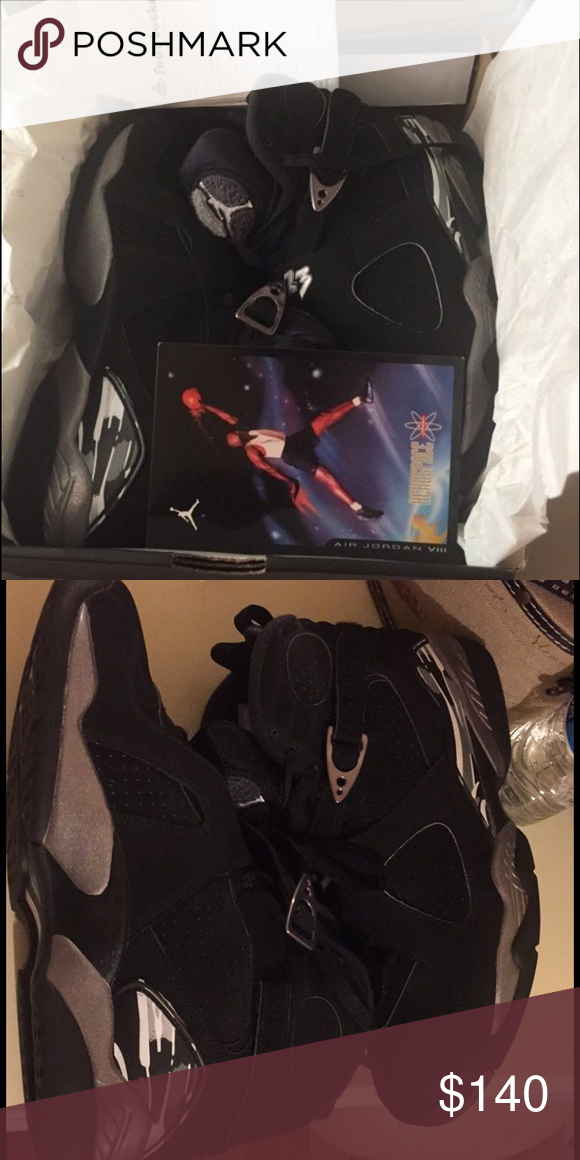 Jordan chrome 8s Selling my chrome 8s bought them but didn't fit worn twice 9/10 condition like new size 11 with box Jordan Shoes Sneakers