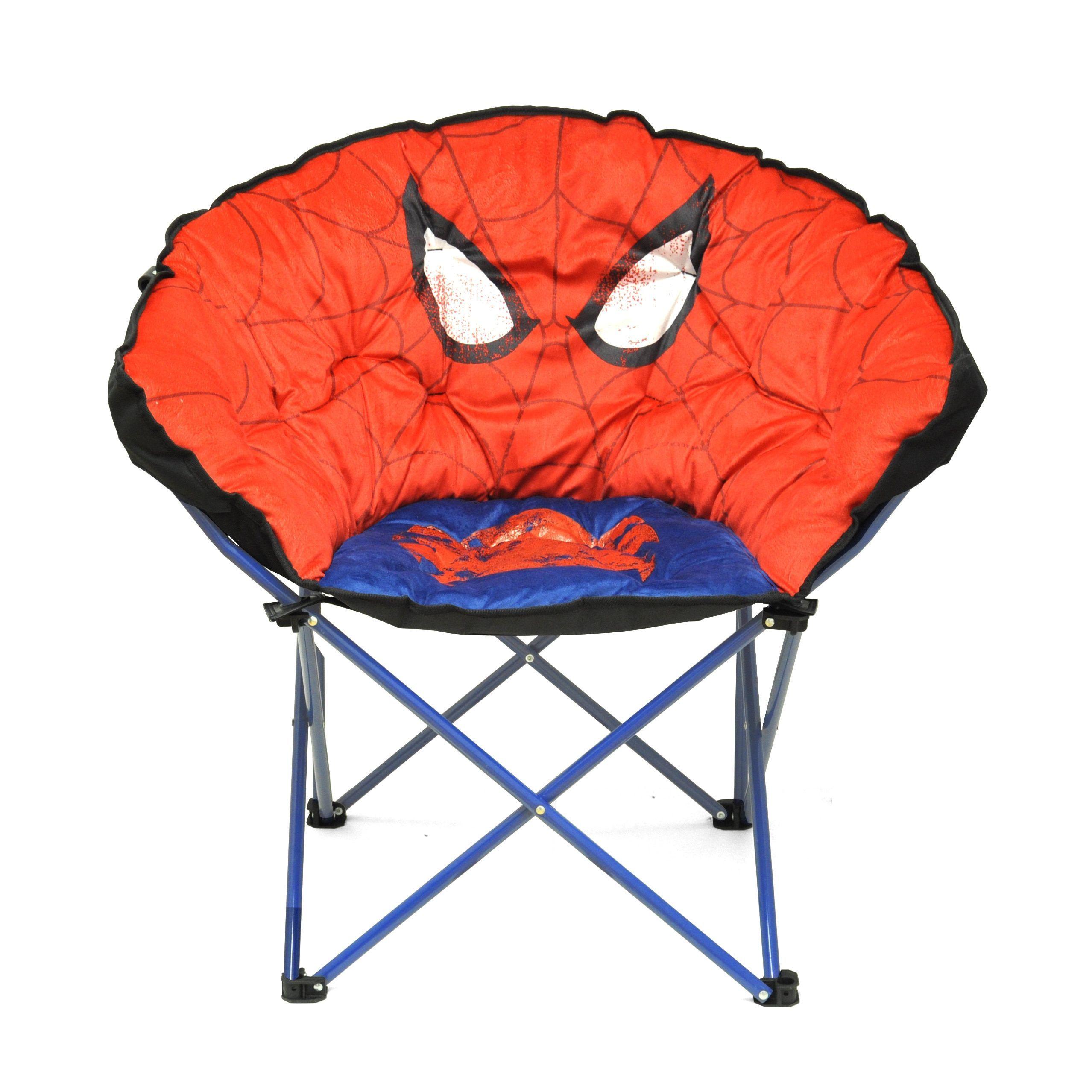 Spider Man Kids Club Chair Spiderman Blue Metal
