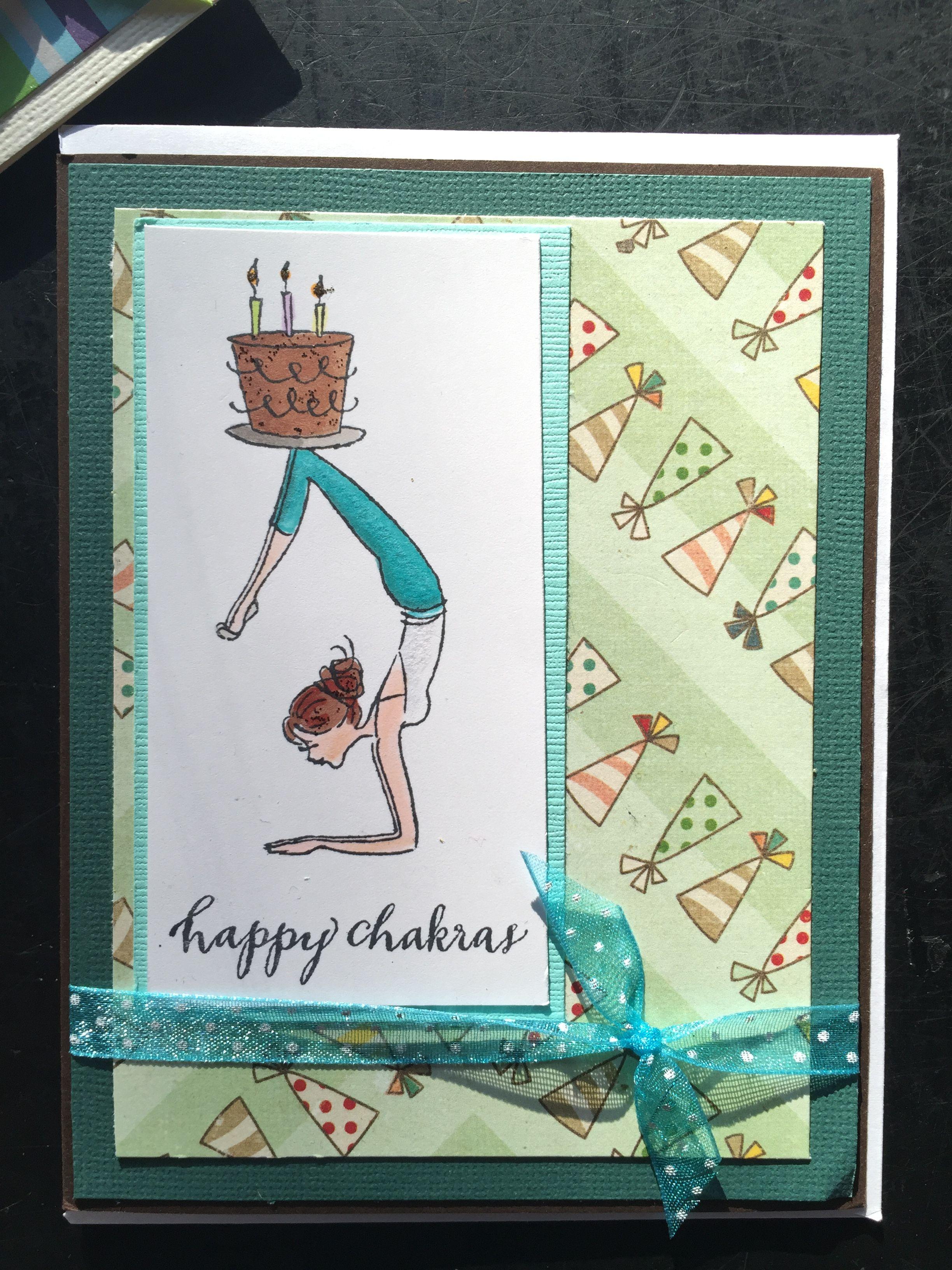 happy chakras, happy birthday yoga card   Happy birthday ...