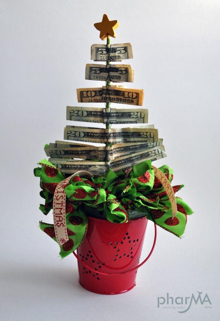 Easy& Quick Christmas Money Tree @phar-ma.com | Decoration ideas ...
