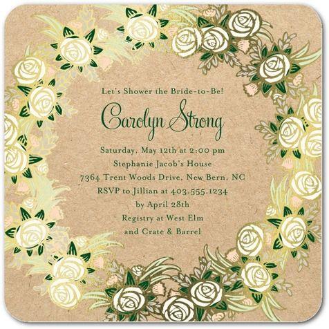 Foil Bridal Shower Invitations