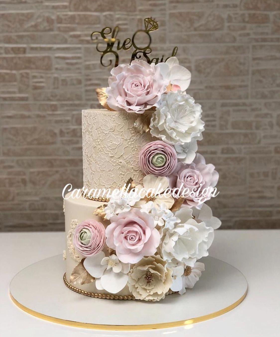 Pin By Katai Zsuzsanna On Sutikaja Elegant Birthday Cakes
