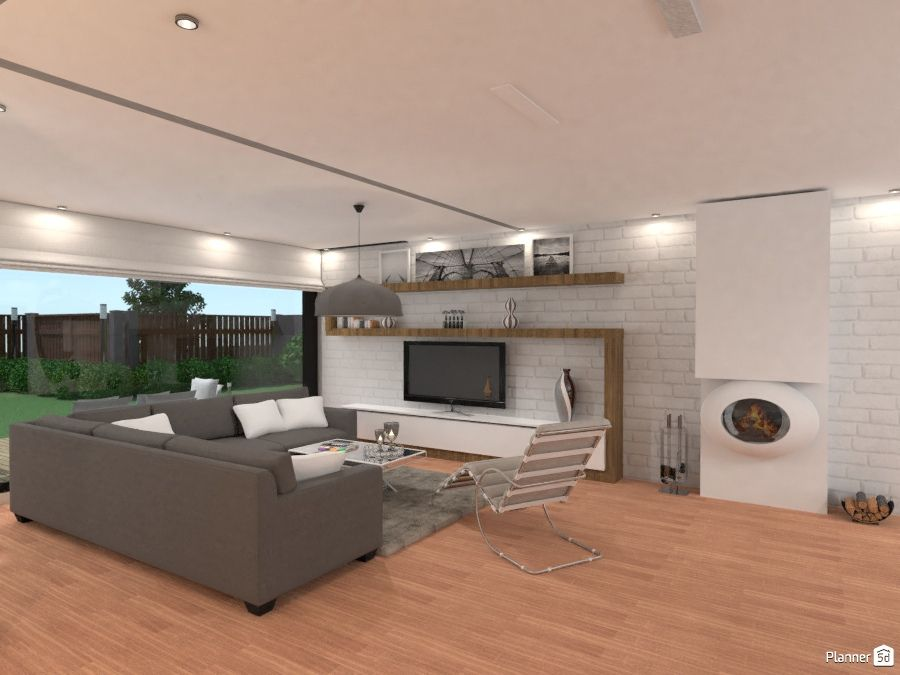 Attrayant Modern Living Room, PLANNER 5D