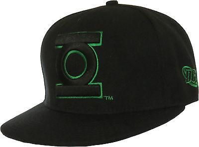 08296d9d1a7 DC Comics The Green Lantern Snapback Cap. Black with the Outlined Black  front logo