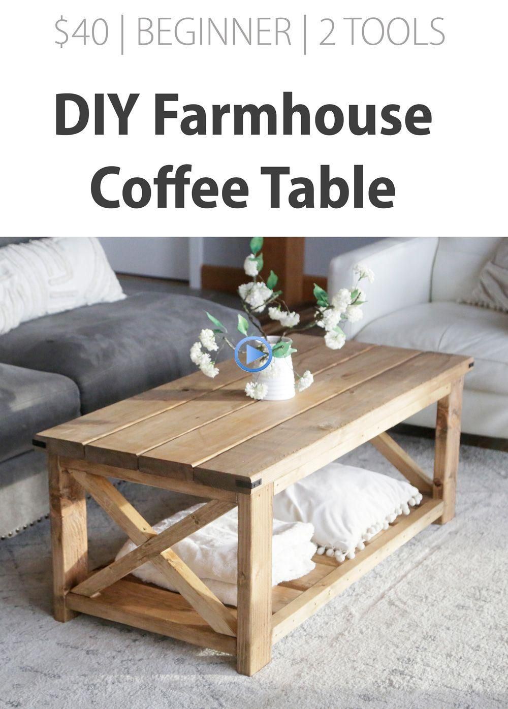Farmhouse Coffee Table Ana White diyfurniture in 2020