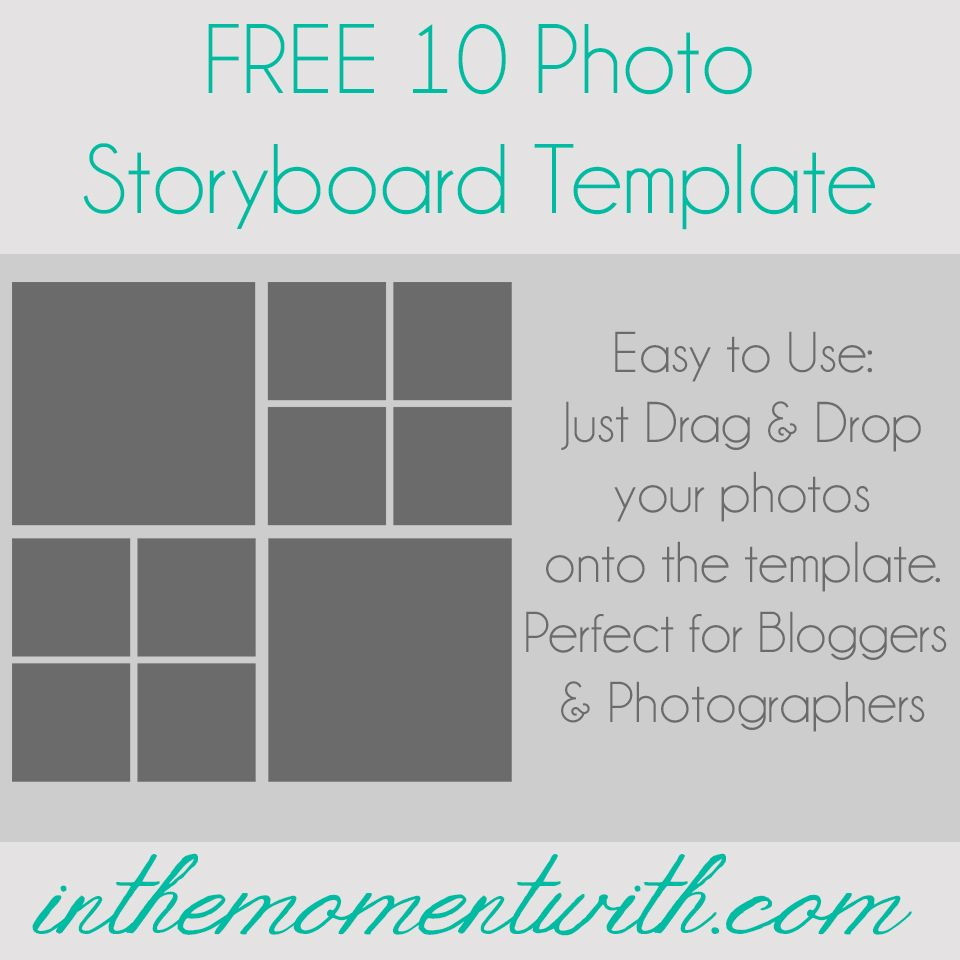 Pography Storyboard Sample | Storyboard Template Patterns Fonts Graphics Pinterest