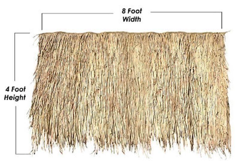 One 4 X 8 Thatch Panel Mexican Palm Tiki Bar Roof Etsy In 2020 Tiki Bar Thatch Mexican Palm