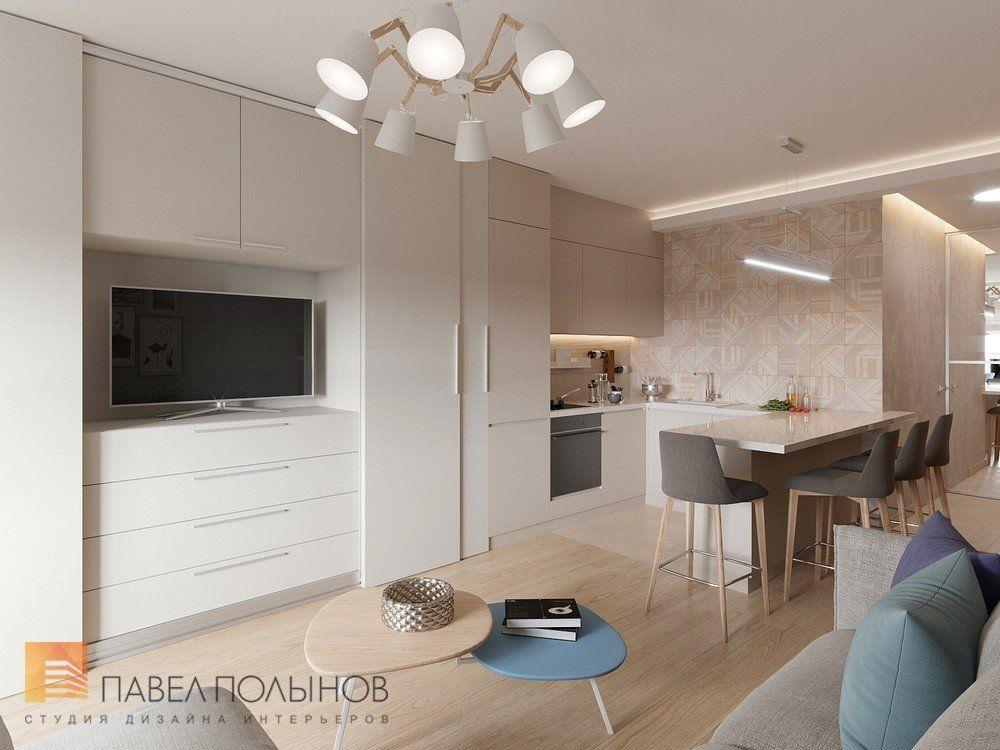 Фото дизайн кухни-гостиной из проекта «Дизайн квартиры ...