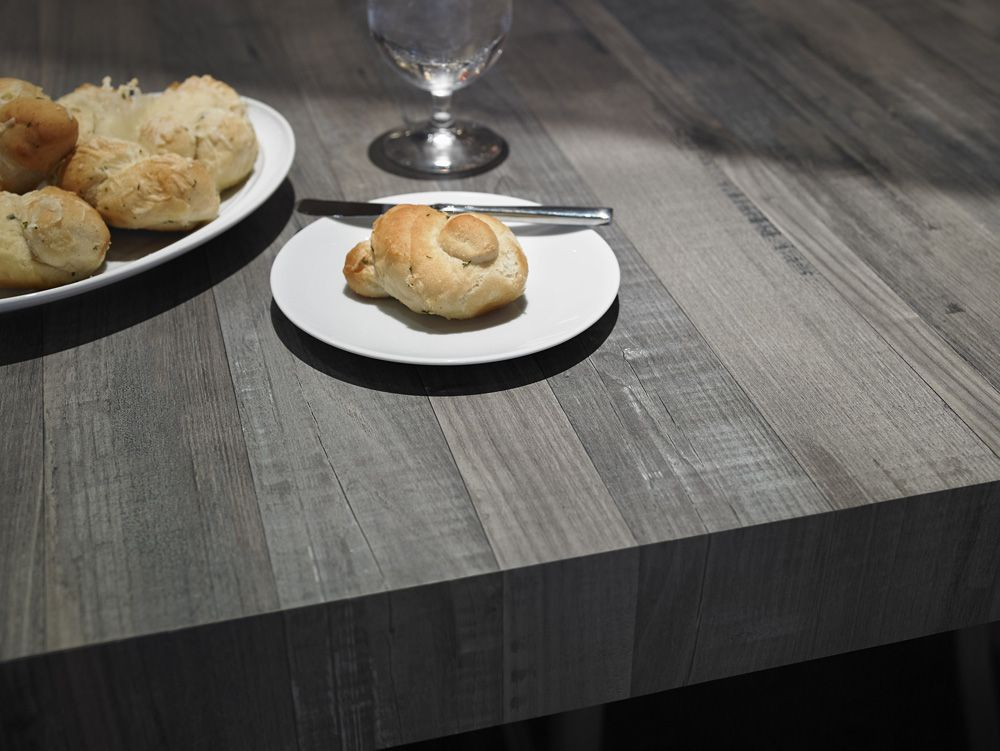 This stunning, community table featured in 6477 Seasoned Planked ...