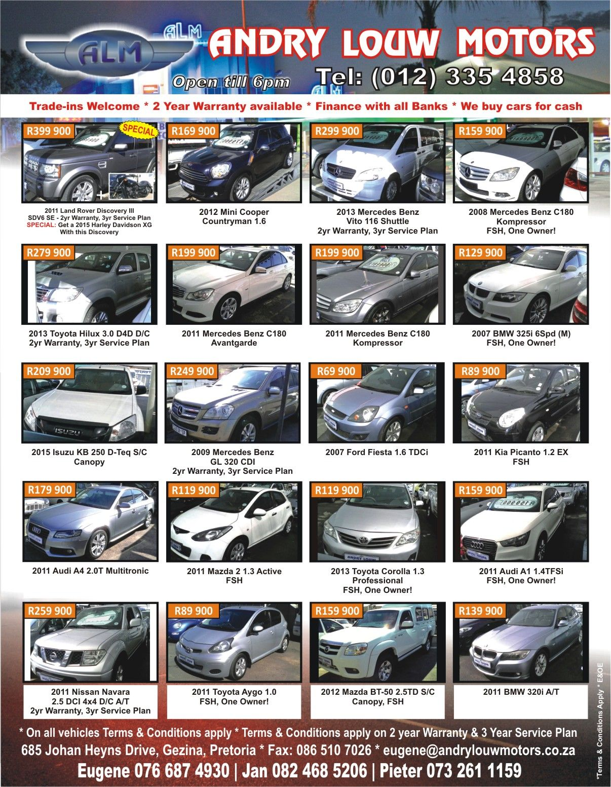 Andry #Louw #Motors Tired Of Your Old Car Want Something New? Trade ...