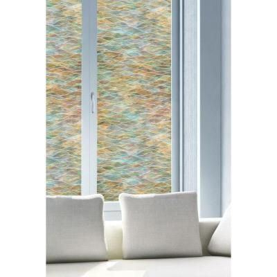 Water Colors Decorative Window Film. Fancy Fix Decorative Privacy Vinyl Glass Window Film fancy fix
