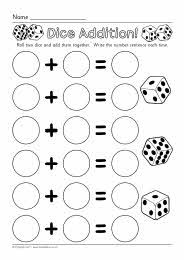 Math addition practice with dice