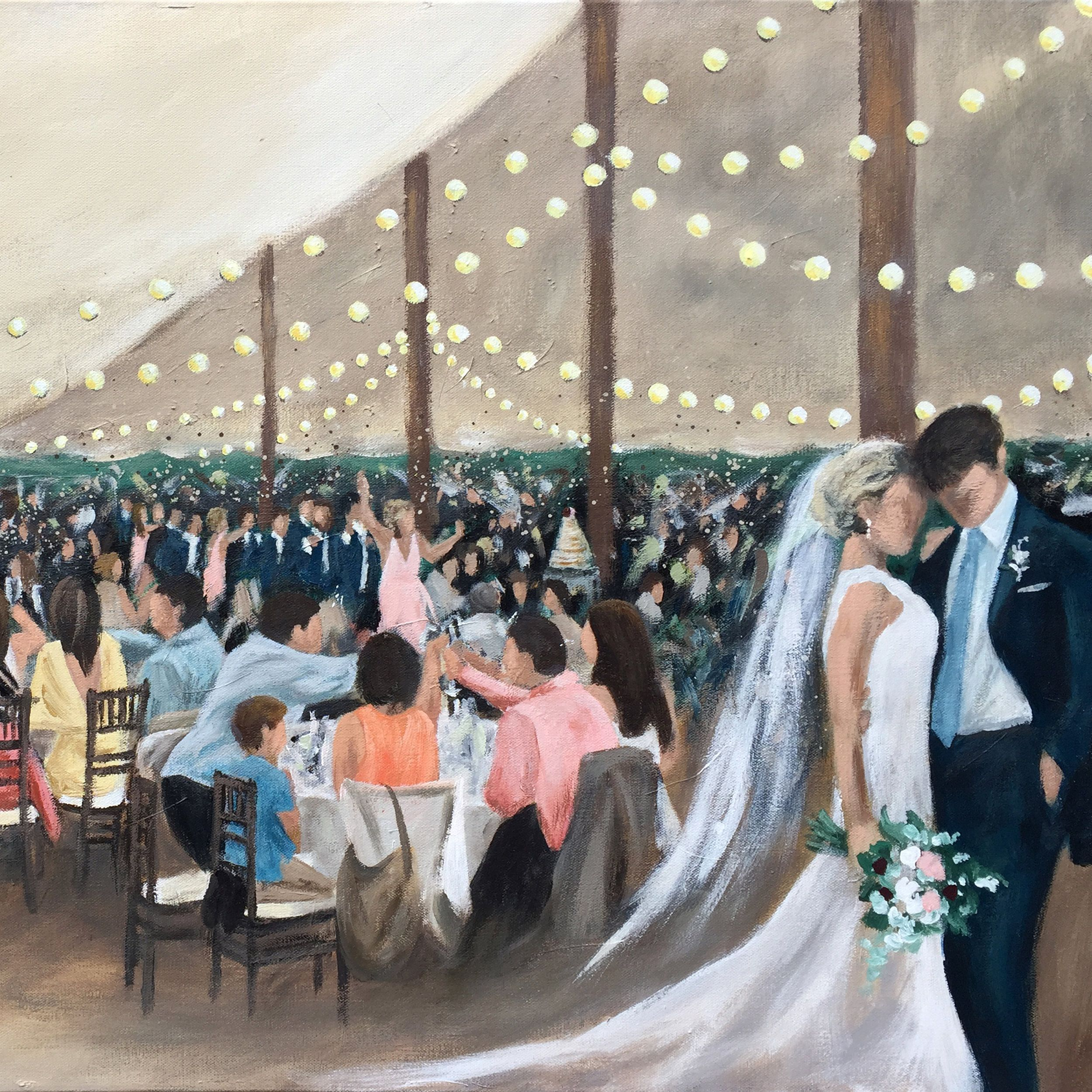 Live Wedding Painting at the Transept in Cincinnati, OH http://www ...