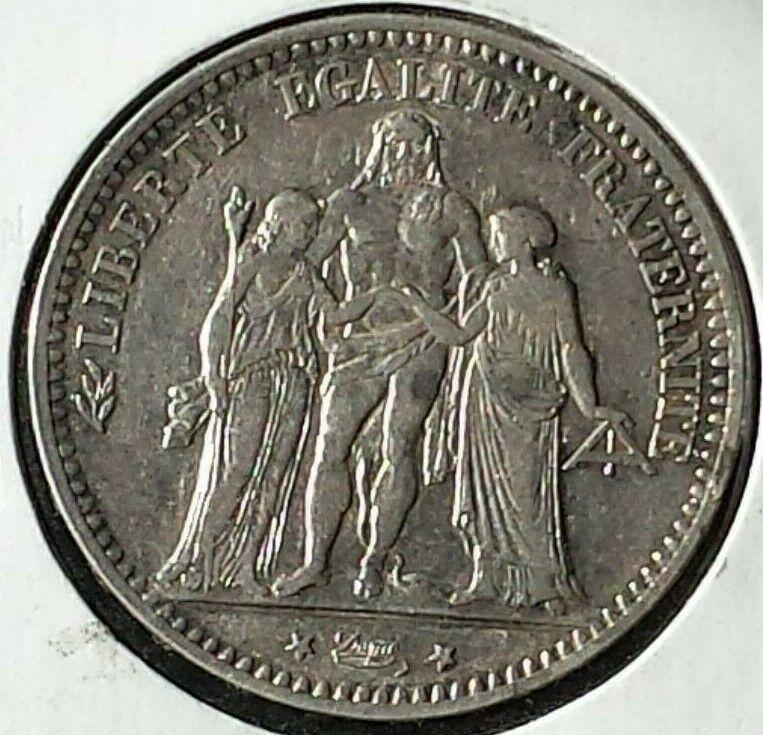 1874 A France Silver 5 Francs Km 820 1 Amazing Detail Argent Coin Money Coins Ebay Money
