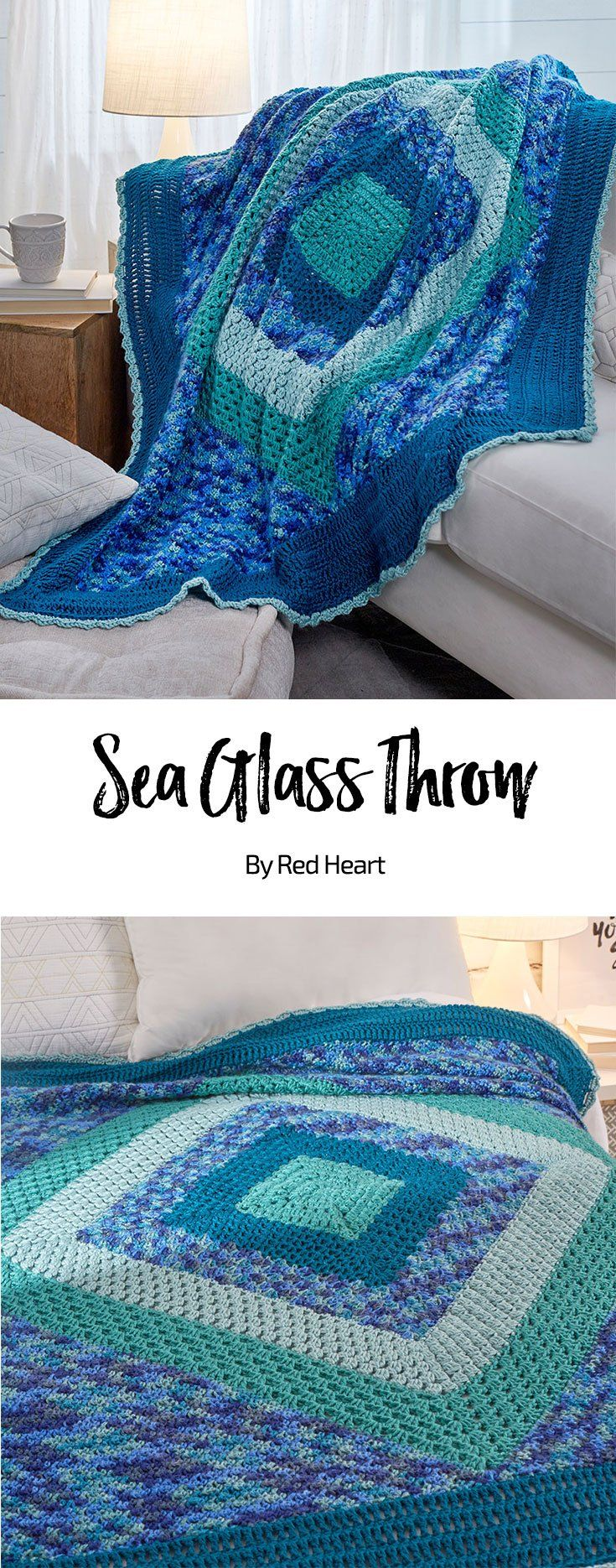 Sea Glass Throw free crochet pattern in Soft yarn. | New, New Free ...