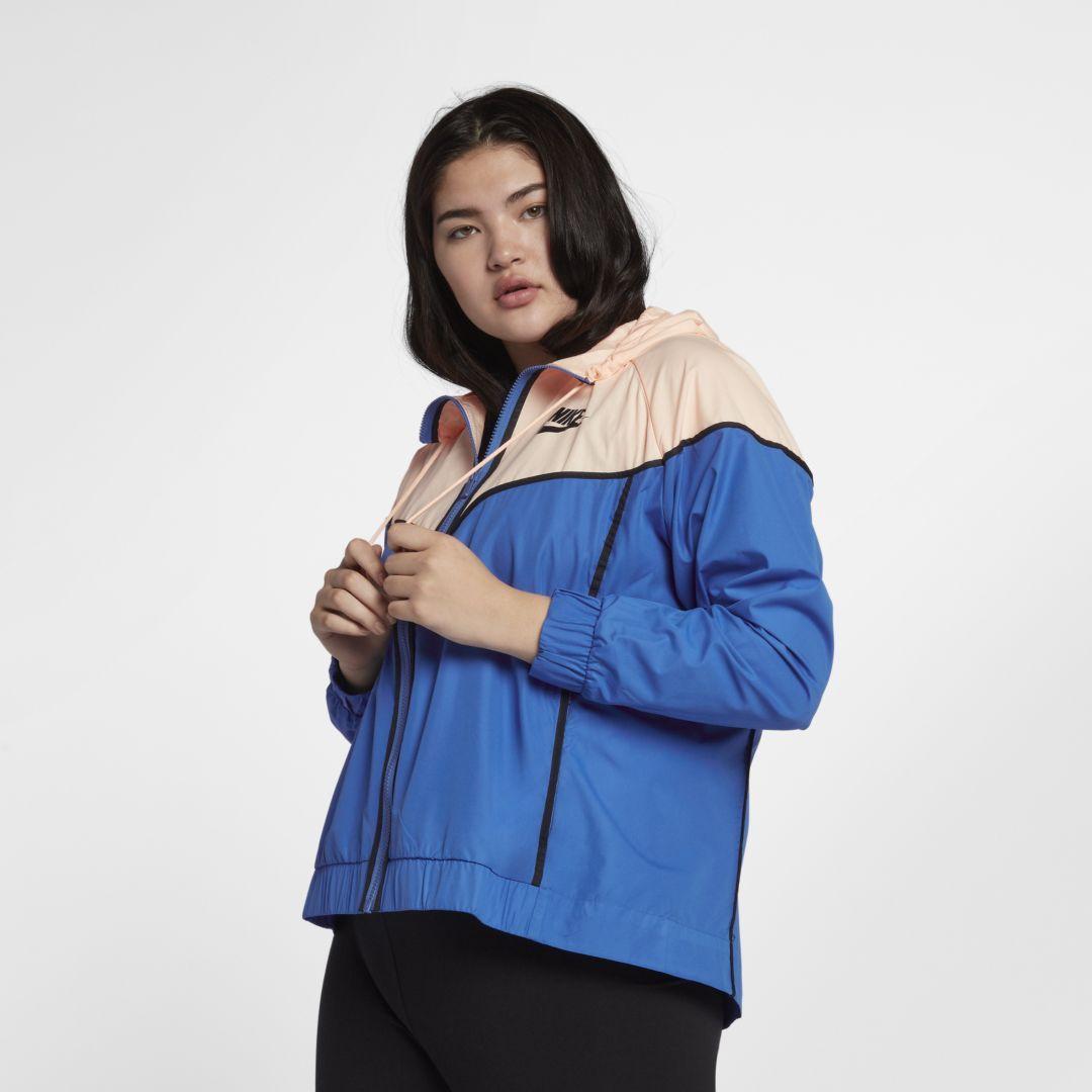 f021f135740 Nike Sportswear Windrunner (Plus Size) Women s Jacket Size 3X (Signal Blue)