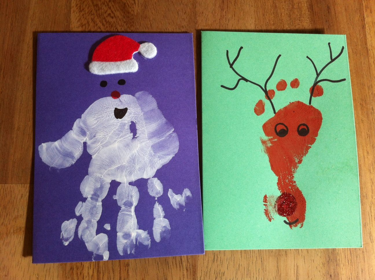 Christmas Craft Ideas For 3 Year Olds Part - 36: This Yearu0027s Christmas Cards! Certainly Not Perfect, But Easy And Fun To  Make With