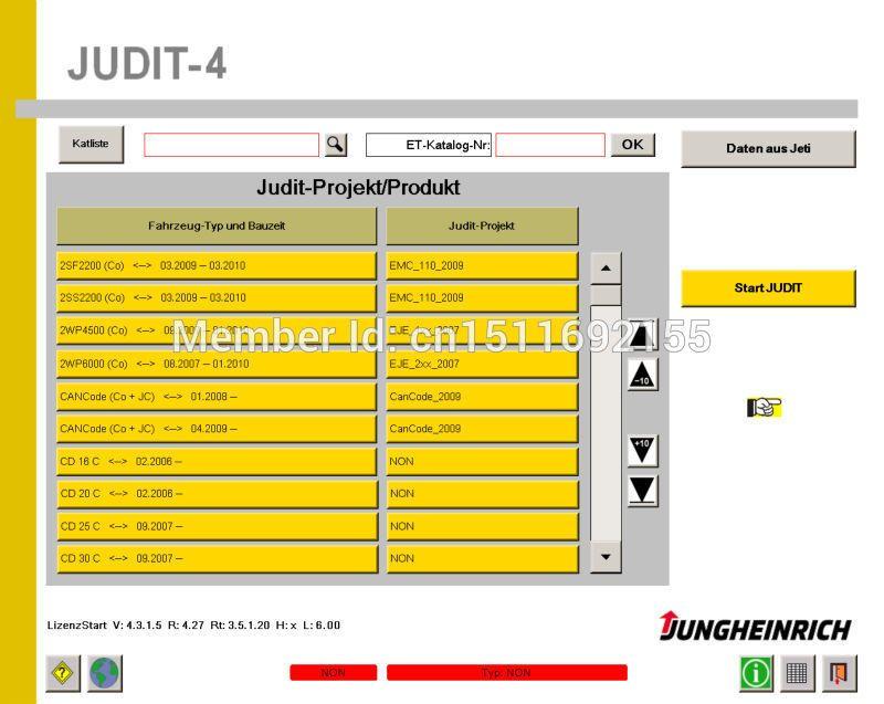 Jeti Jungheinrich Judit 4 Diagnostic Software 4 33 License Soft Ware