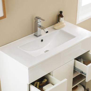 324 1000mm Minimalist Vanity Unit Image 4 Minimalist Bathroom Minimalist Vanity Vanity Units