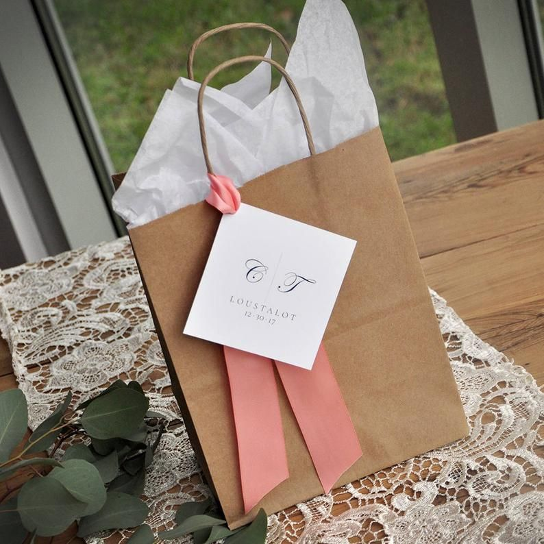 Wedding Guest Gift Bag For Hotel Qty 1 Guest Favor Bags Etsy In 2020 Wedding Gifts For Guests Guest Gifts Guest Gift Bags