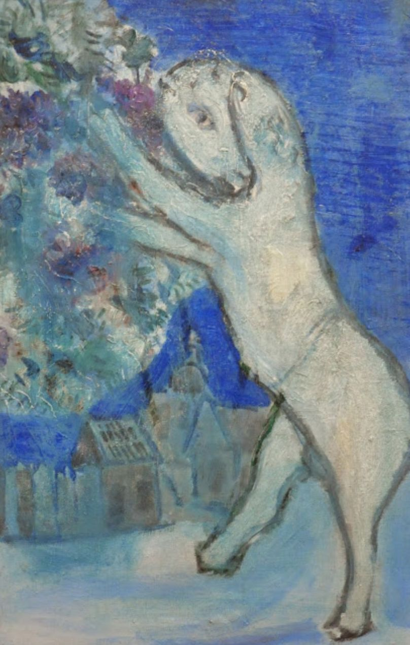 Blue Horse By Marc Chagall 1926 28 Oil On Canvas In The