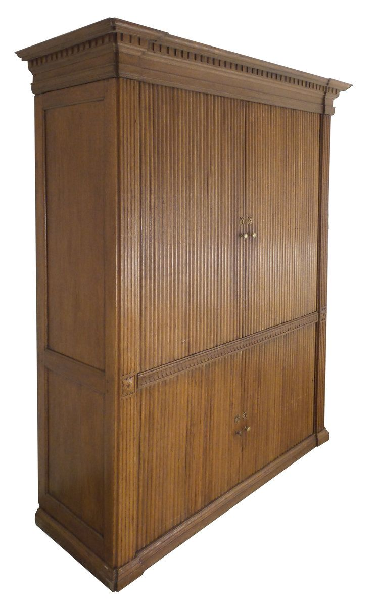 48th Century French Tambour Cabinet  Tambour, Traditional
