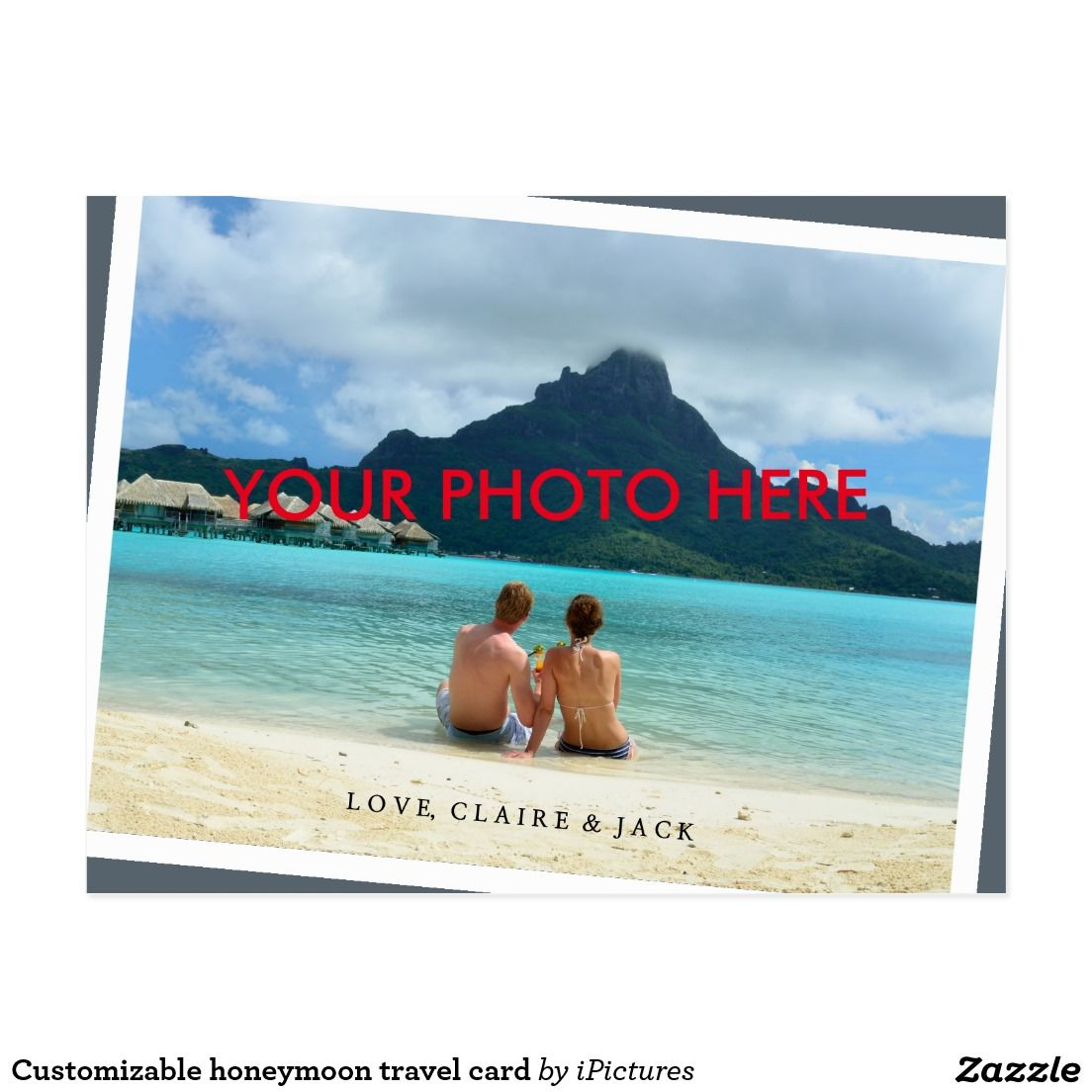 Customizable honeymoon travel card nowadays postcards customizable honeymoon travel card kristyandbryce Images