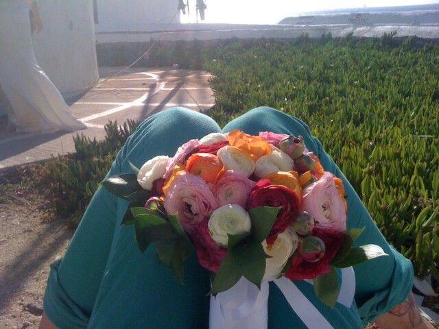 My best friend's wedding flowers