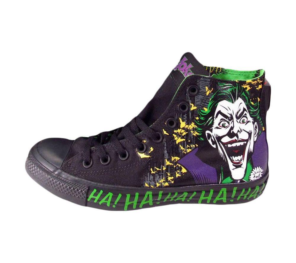Mens Converse Chuck Taylor The Joker Dc comics Shoes 141261c New Black Rare  10 faf7261be
