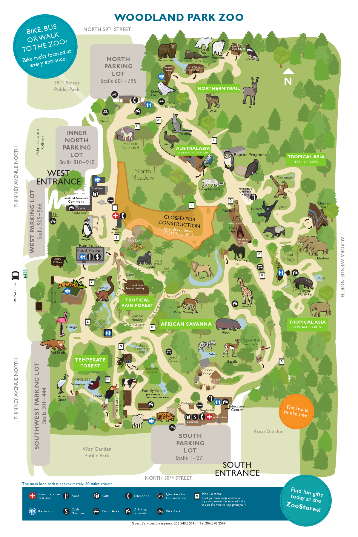 Woodland Park Zoo Map Pinterest
