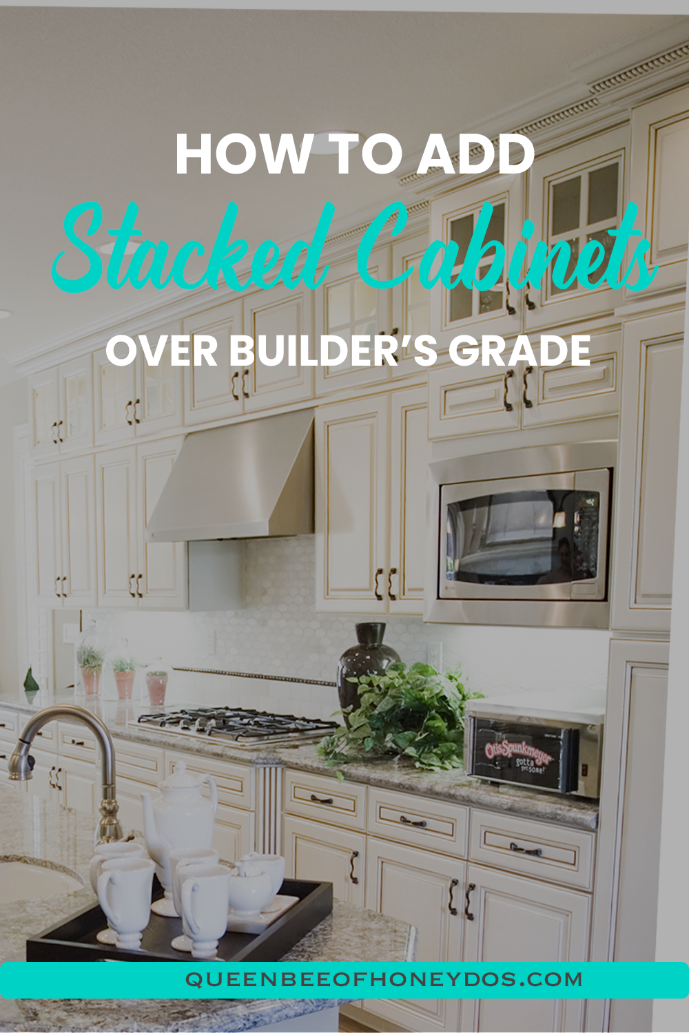 How To Install Stacked Cabinets Over Builder S Grade In 2020 Upper Kitchen Cabinets High End Kitchen Cabinets Woodworking Project Design