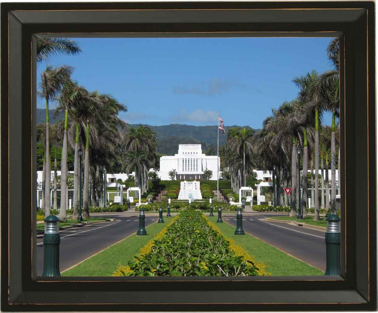 Framed Temple Picture $149 Laie, Hawaii Temple | Framed LDS Temples ...