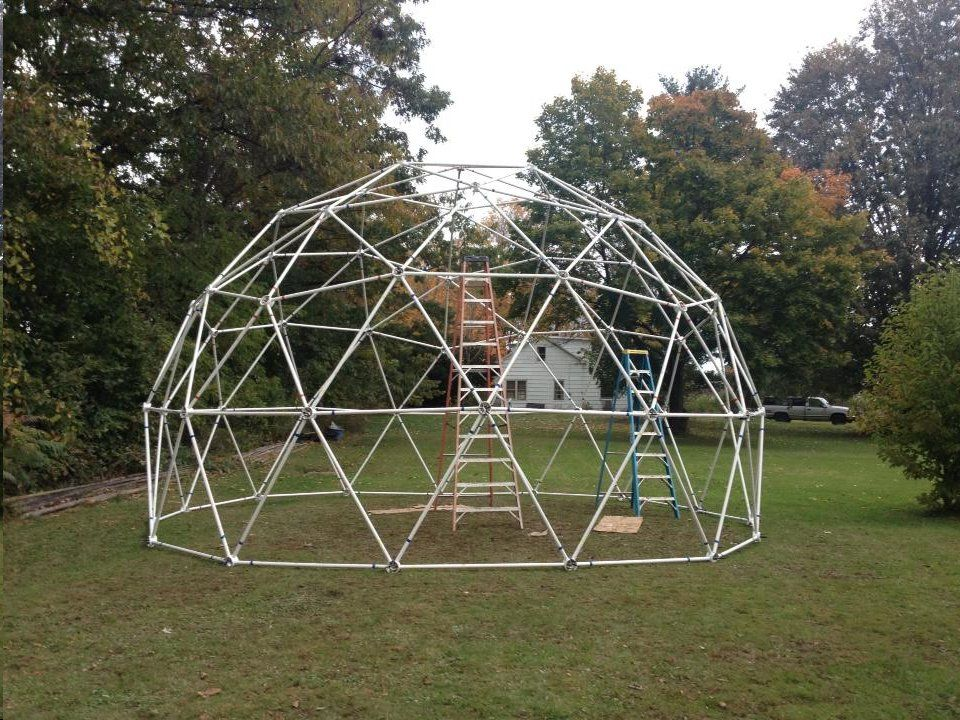 25 3v 5 8 Dual Covering Geodesic Dome Greenhouse Kit Geodesic Dome Greenhouse Dome Greenhouse Diy Greenhouse
