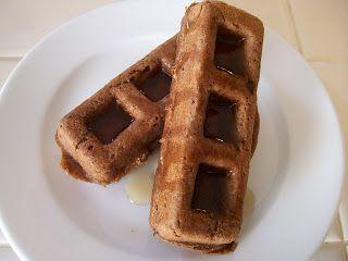 theworldaccordingtoeggface: Chocolate Monkey Protein Waffles