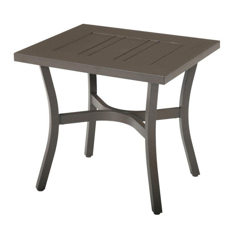 Outdoor Emerald Home Chatham II Aluminum Rectangular Patio End Table    OT1062 01