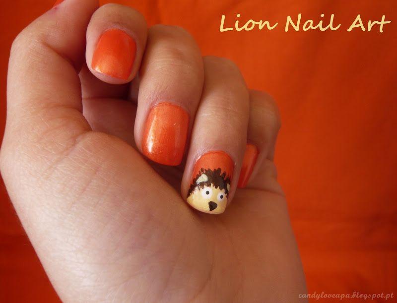 Candy Love Lion Nail Art Nails Pinterest Lions