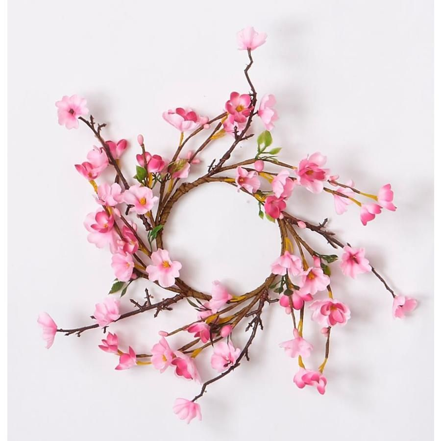 Worth Imports 15 In Yellow Indoor Artificial Sunflower Flowers Lowes Com Cherry Blossom Decor Cherry Blossom Candle Spring Flower Wreath
