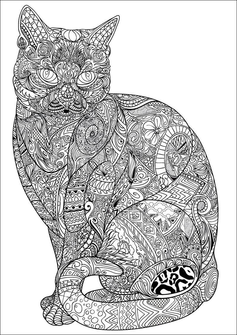 Coloriages coloriage chat coloriage chat coloriage et coloriage imprimer - Jeux de coloriage de chat ...