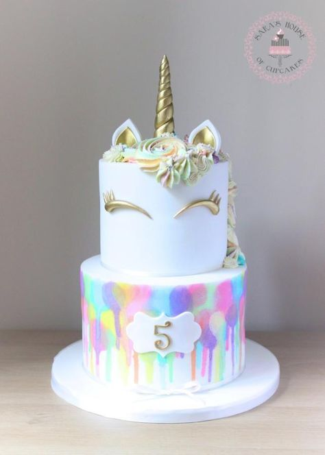 Unicorn cake your daughter will fall in love with. Covered