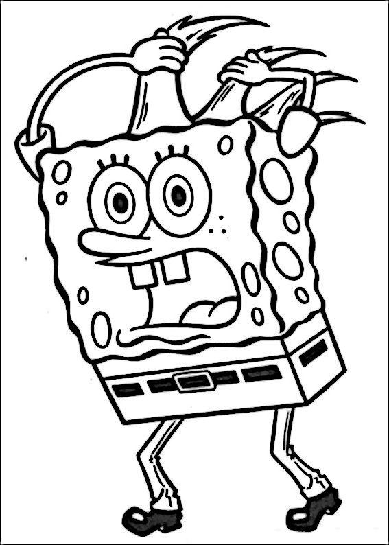 Disegni da colorare Spongebob 42 | Barnetegning | Pinterest ...