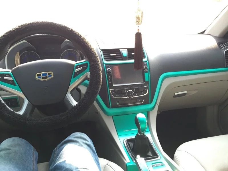 Matte metallic vinyl car wrap DIY   Pinterest   Car interiors     I spent  15 to change my car interior into my favorite tiffany blue  Pin if