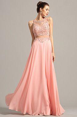 Robe soiree rose bonbon