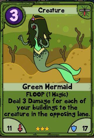 Green Mermaid  Useless Swamp Card  Card Wars Adventure Time